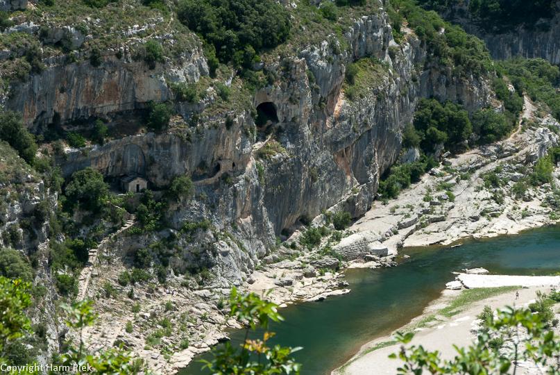 Gorges du Gardon, La Baume, Le Gard, Departement 30, France, Frankrijk